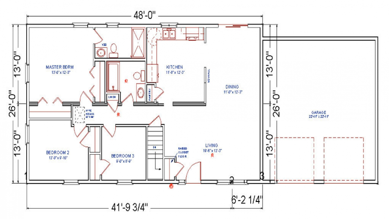 Ranch home addition floor plans before after ranch for Addition home plans