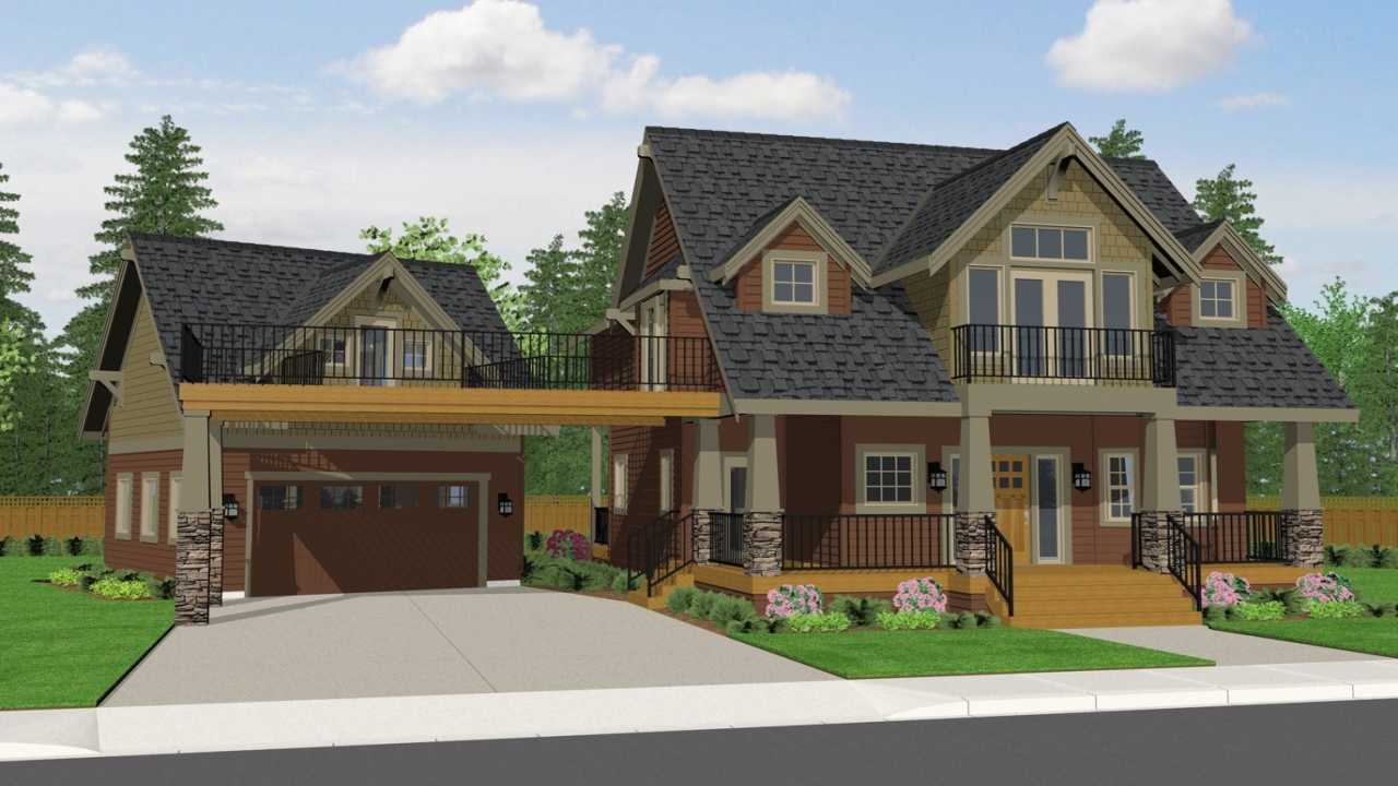 Craftsman Style House Plans Craftsman Bungalow House Plans: craftsman lake house