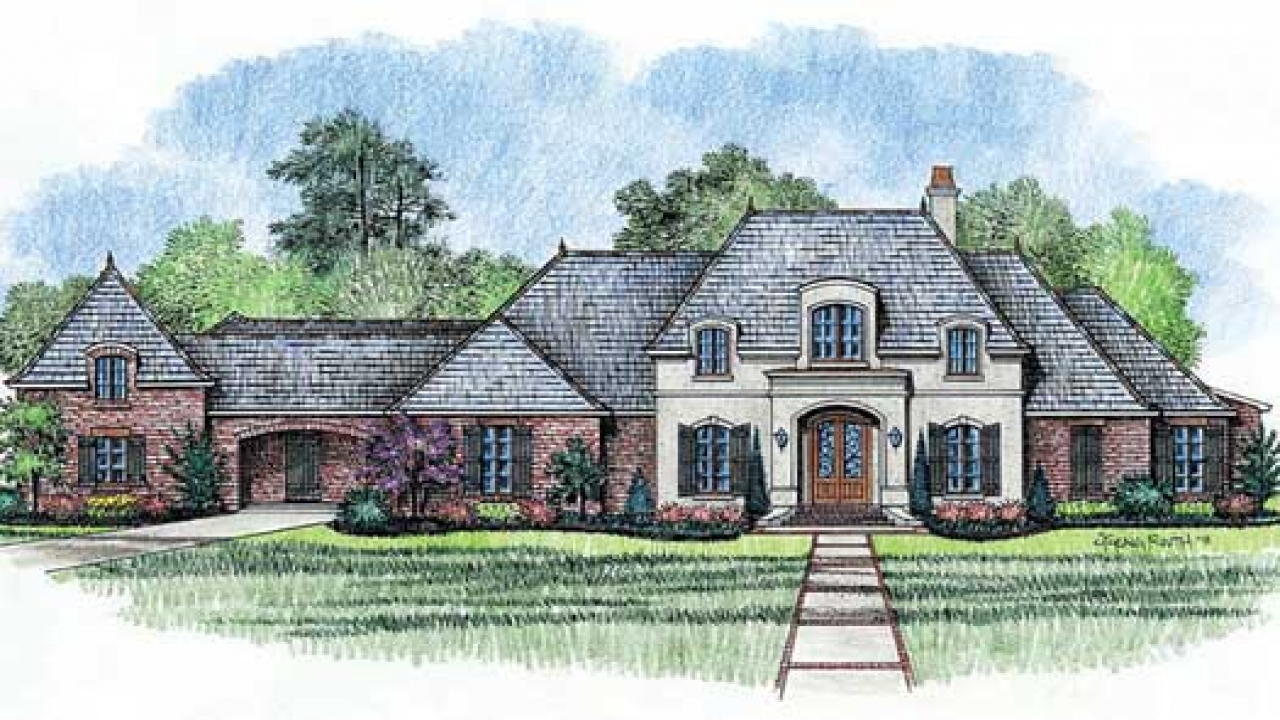French country house plans one story french country house for Single story country house plans