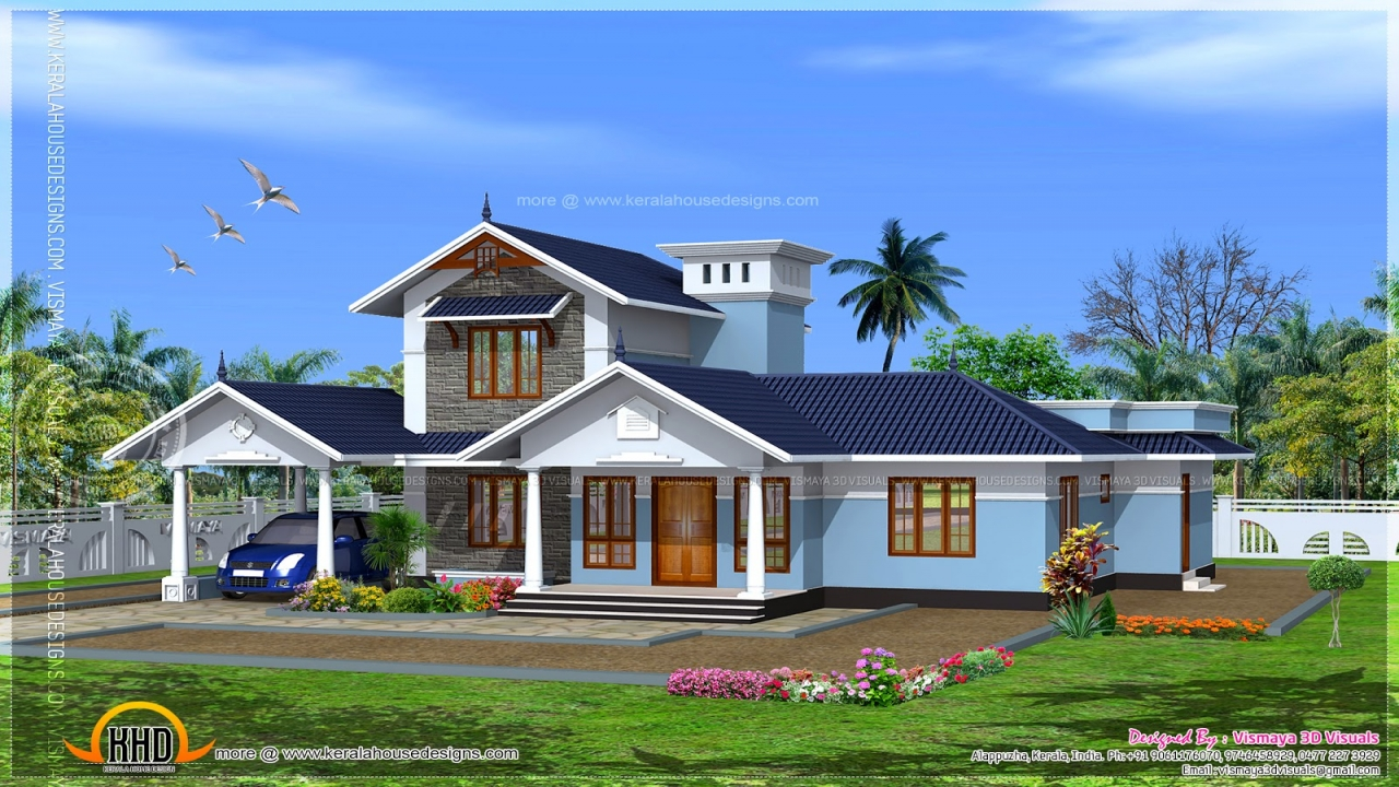 Kerala model house floor plans kerala house photo gallery for Kerala model house photos with details