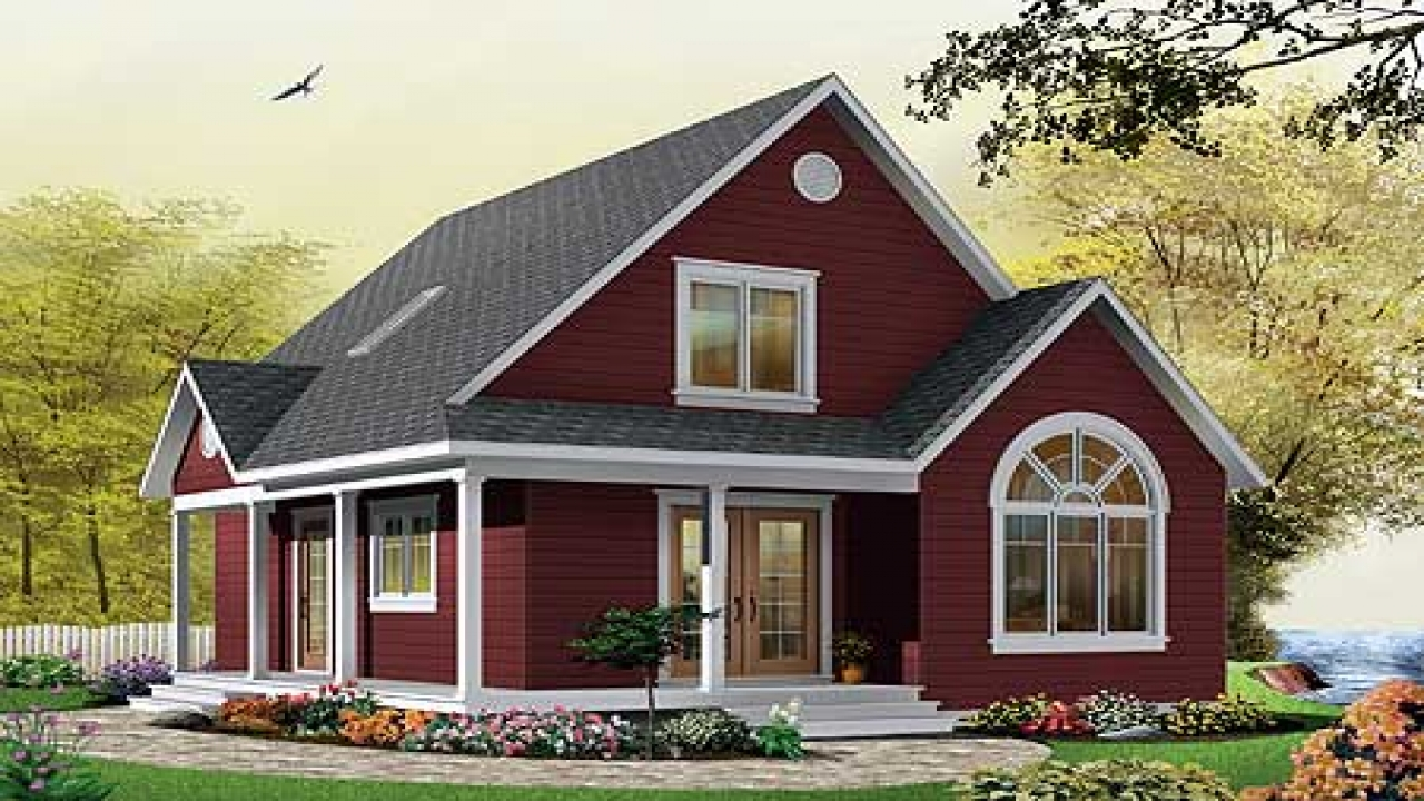 Small Home Plans: Small Cottage House Plans With Porches Simple Small House