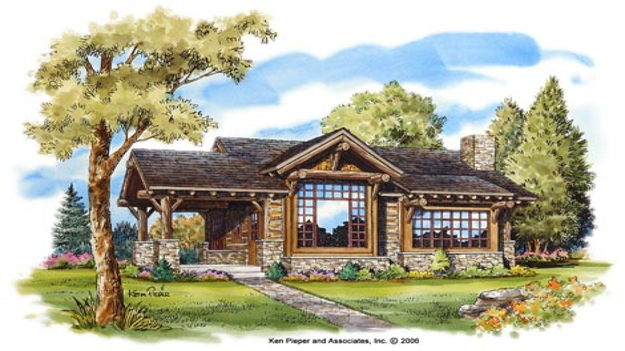 Small mountain cabin house plans mountain small cabin for Lodge homes plans