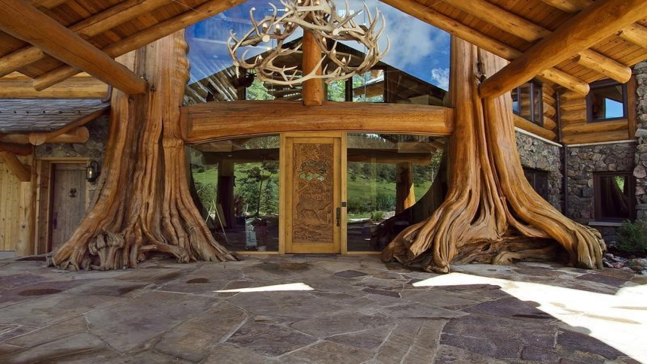 Luxury log cabin home luxury mountain log homes modern for Luxury log home builders