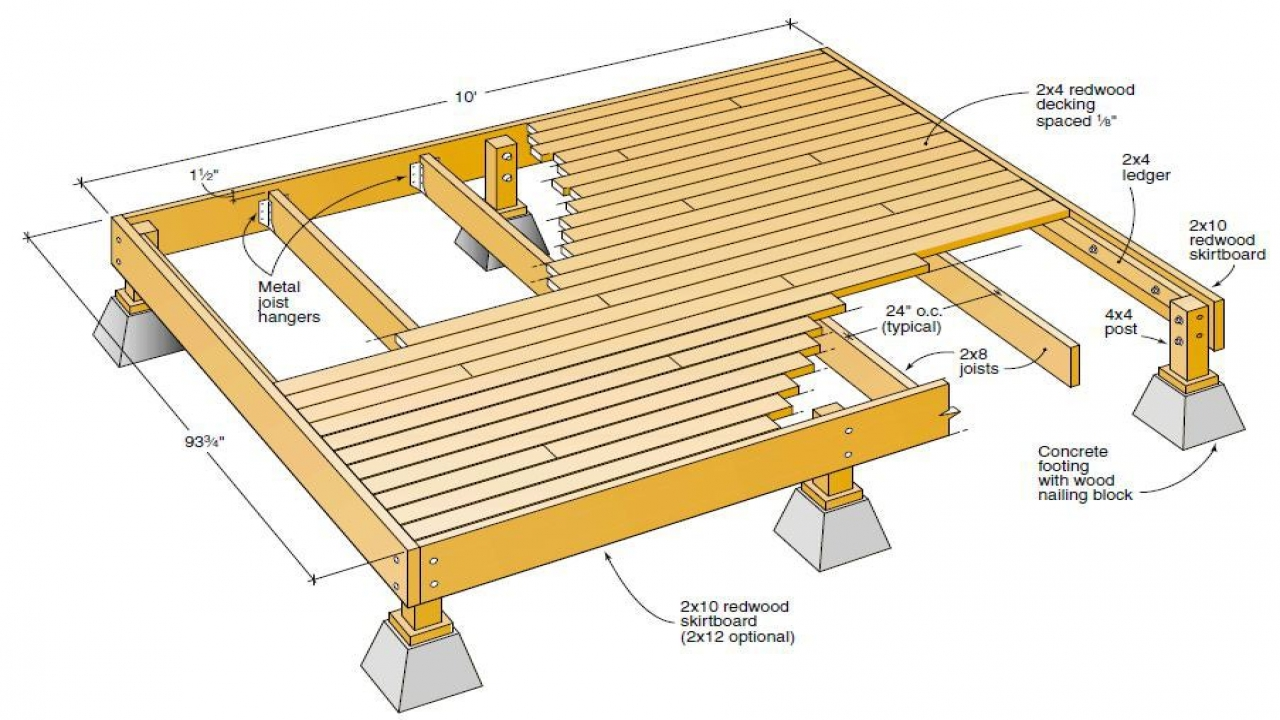 Free wood deck plans free deck plans blueprints deck plan for Patio plans free