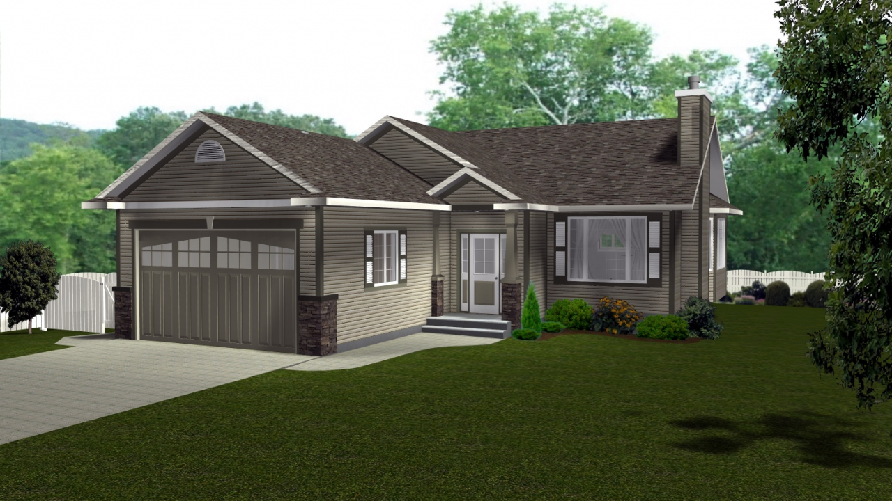 Craftsman style architecture l shaped craftsman style for Canadian bungalow house plans