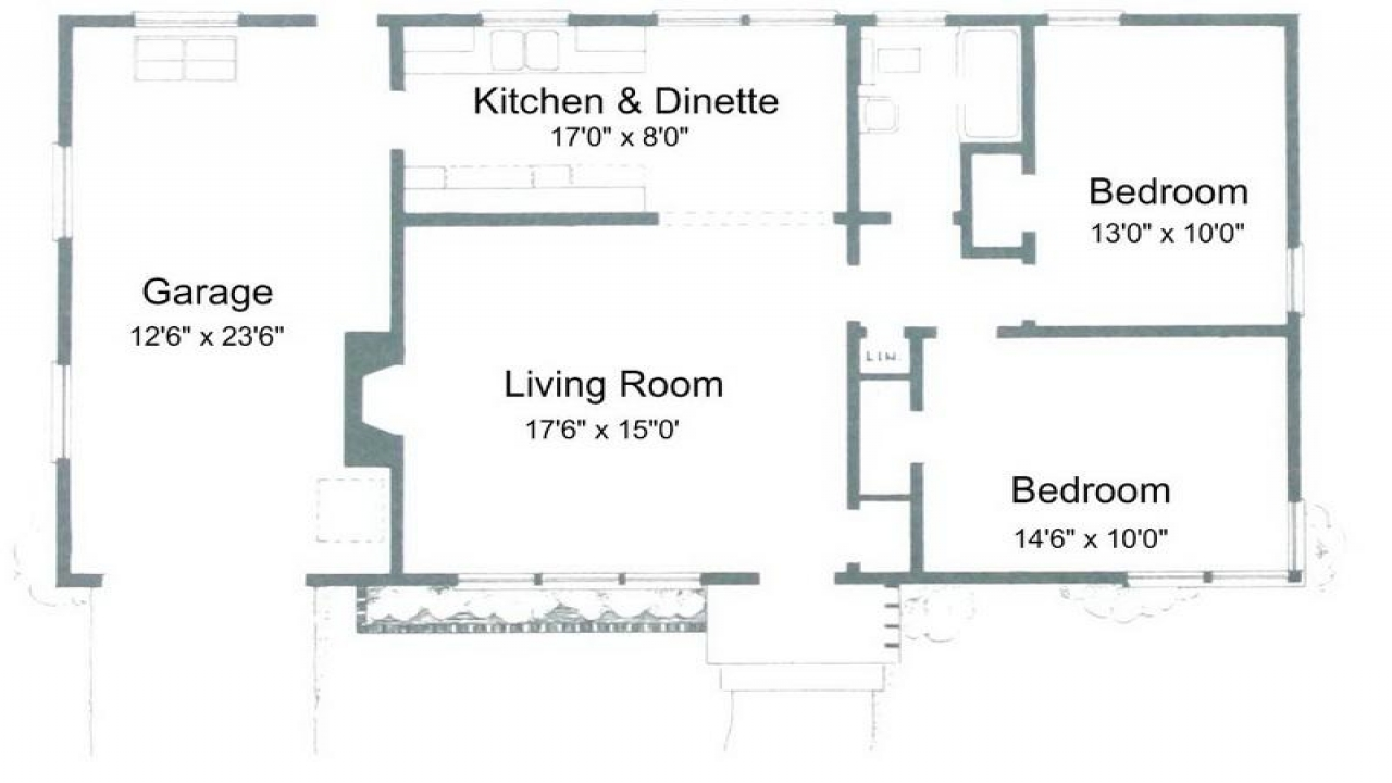Two bedroom condo small two bedroom house plans tiny for Small condo plans