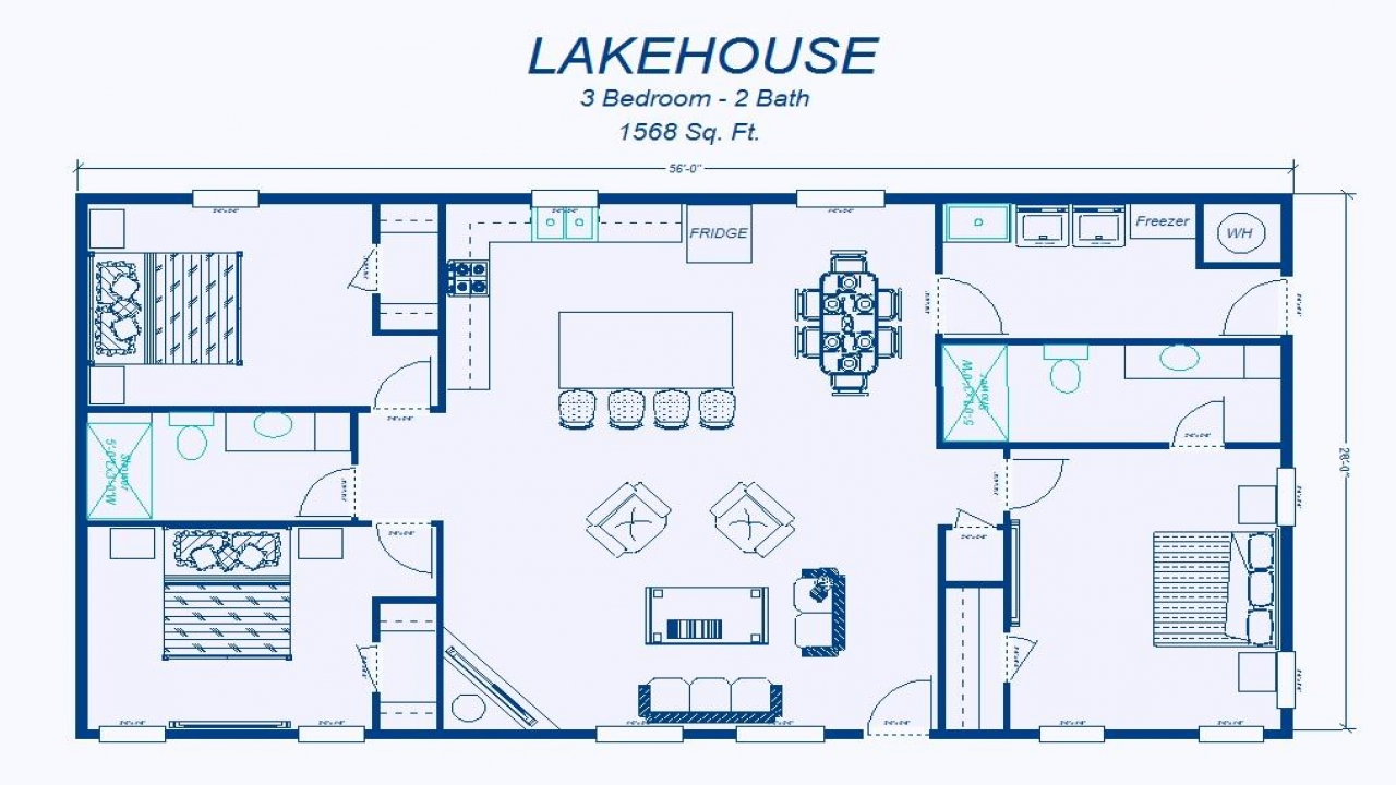 Simple 3 bedroom house floor plans simple 3 bedroom house for 3 bedroom ranch home plans