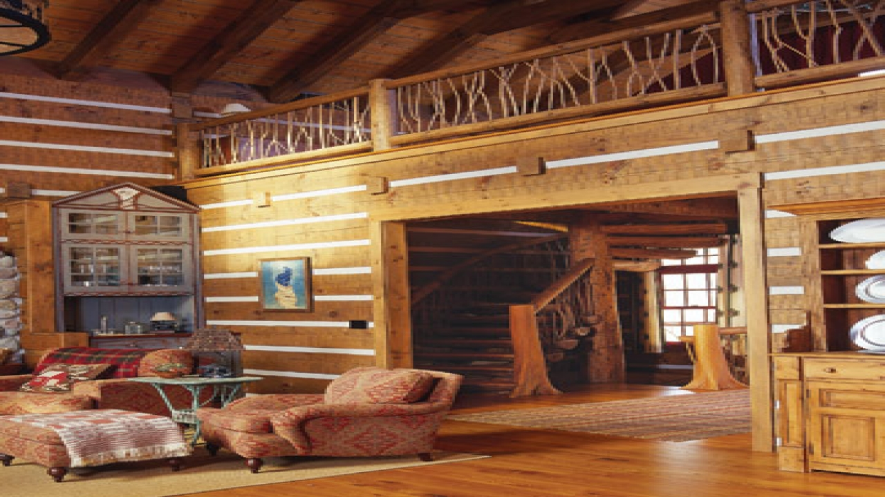 Small cabin interior design ideas log cabin interior - Interior pictures of small log cabins ...