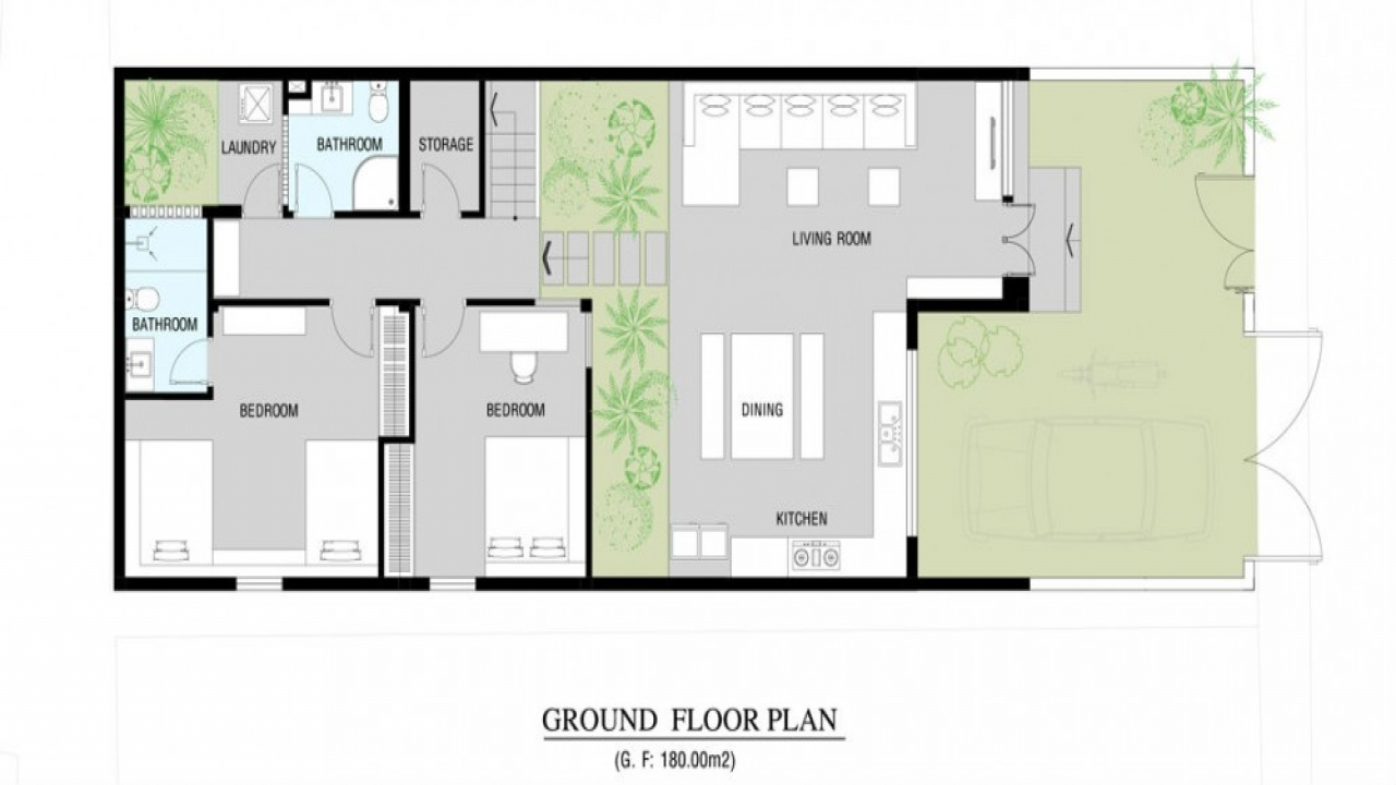 Modern home floor plan modern small house plans modern for Modern house plans small
