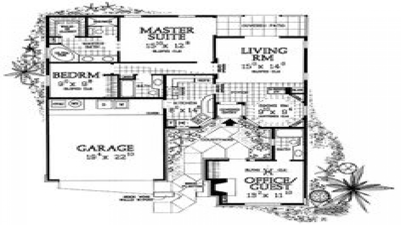 Small houses with courtyards small courtyard house plans for House plans with courtyard in middle