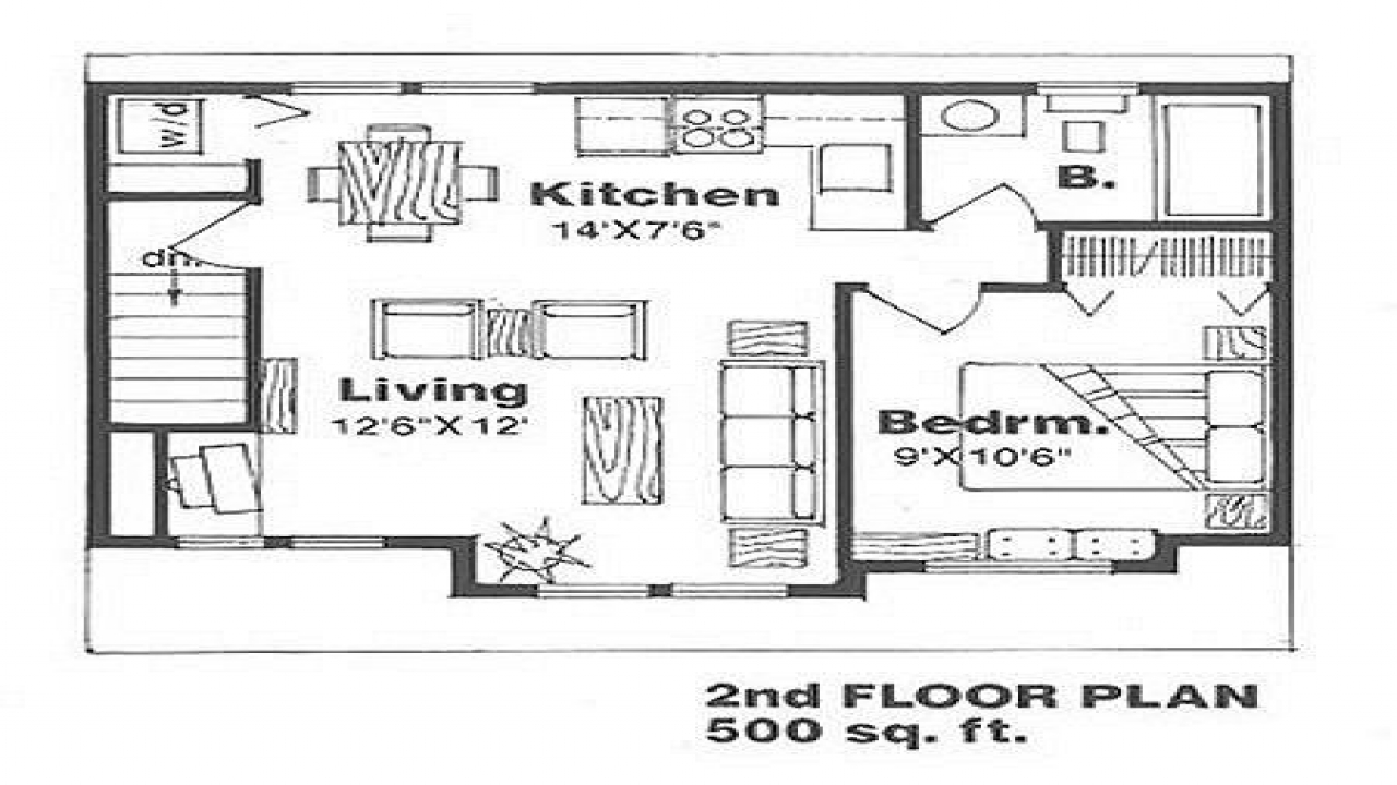 500 Sq Ft House Plans IKEA 500 Sq Ft. House, 1 Bedroom