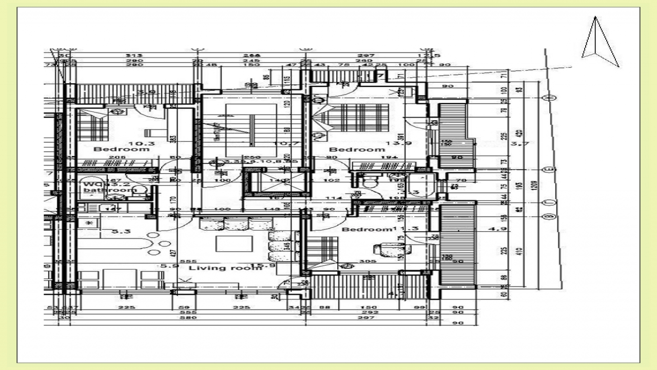 Residential architectural floor plan modern residential for Residential blueprints