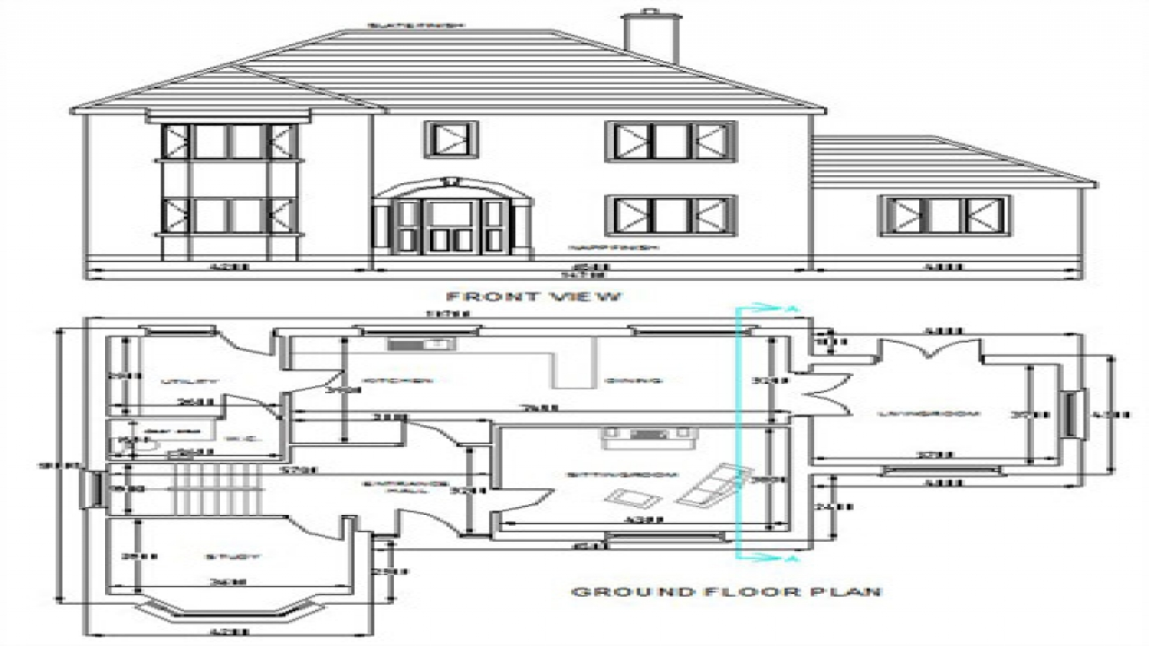 Free dwg house plans autocad house plans free download for Full house design