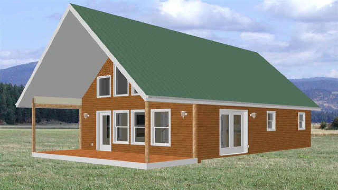 Basic cabin plans with loft cabin with loft plans free for Basic cabin designs