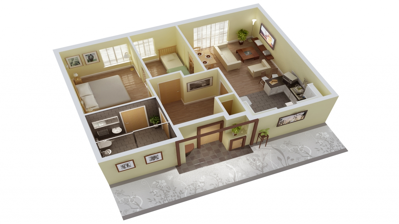 3d home design floor plan 3d design software floor house for Floor 3d design