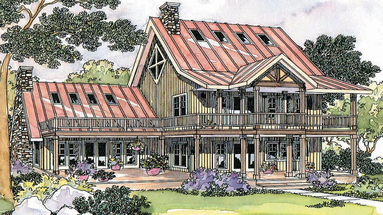 Lodge style house plans avondale 10 347 associated designs for Lodge style home plans