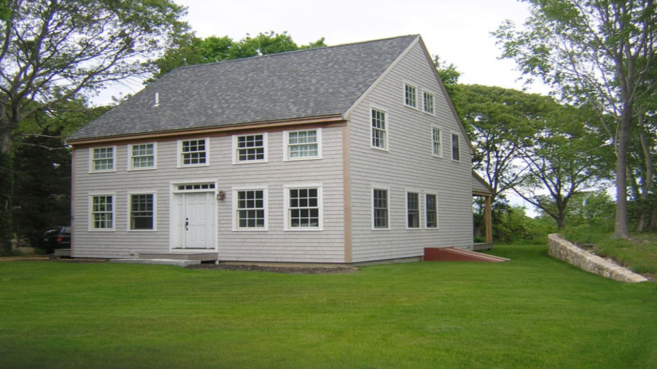 Small colonial homes american colonial houses cost Small colonial home plans