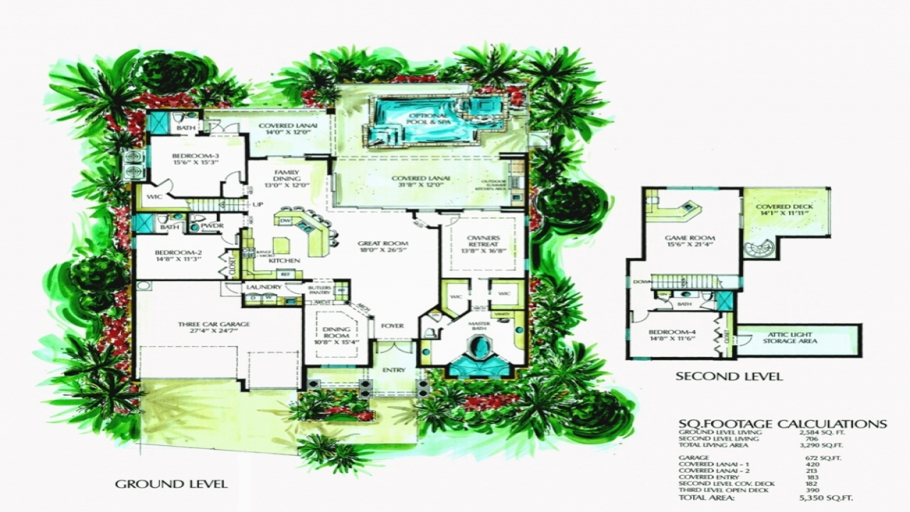 Florida Style Home Floor Plans Old Florida Style Homes