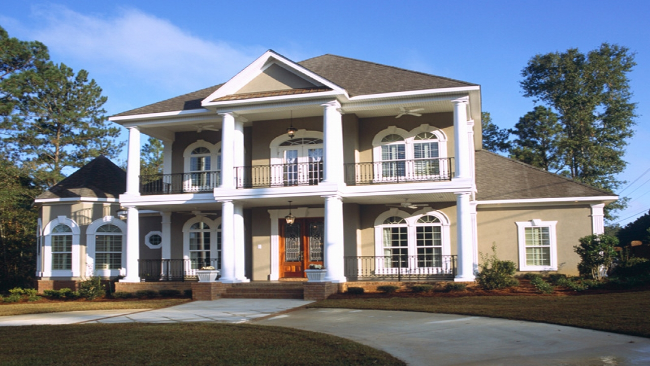 Southern colonial house plans traditional colonial house for Southern colonial house plans