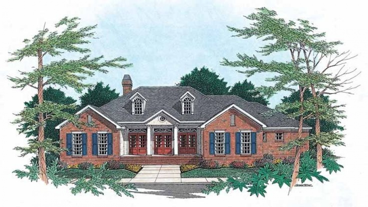 Colonial revival house plan with 2184 square feet and 3 for Colonial style house plans