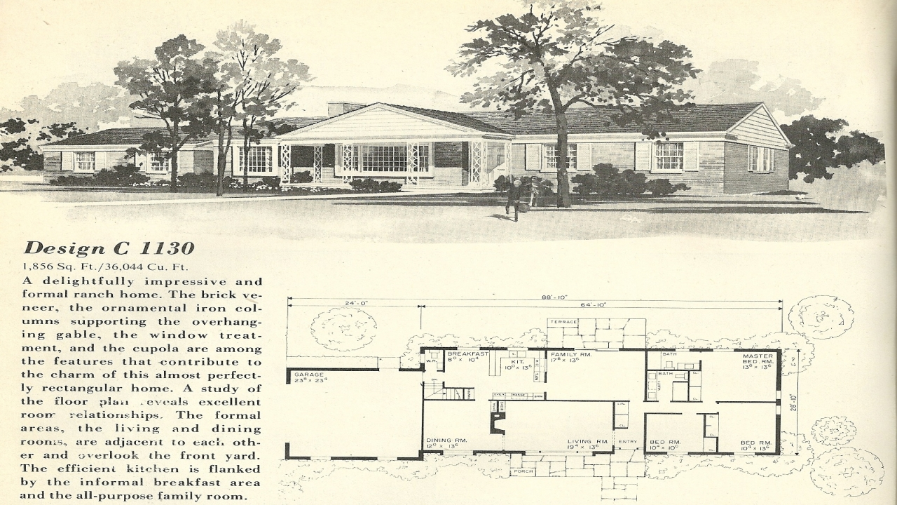 1960 ranch style homes 1960s ranch house floor plans  vintage home design