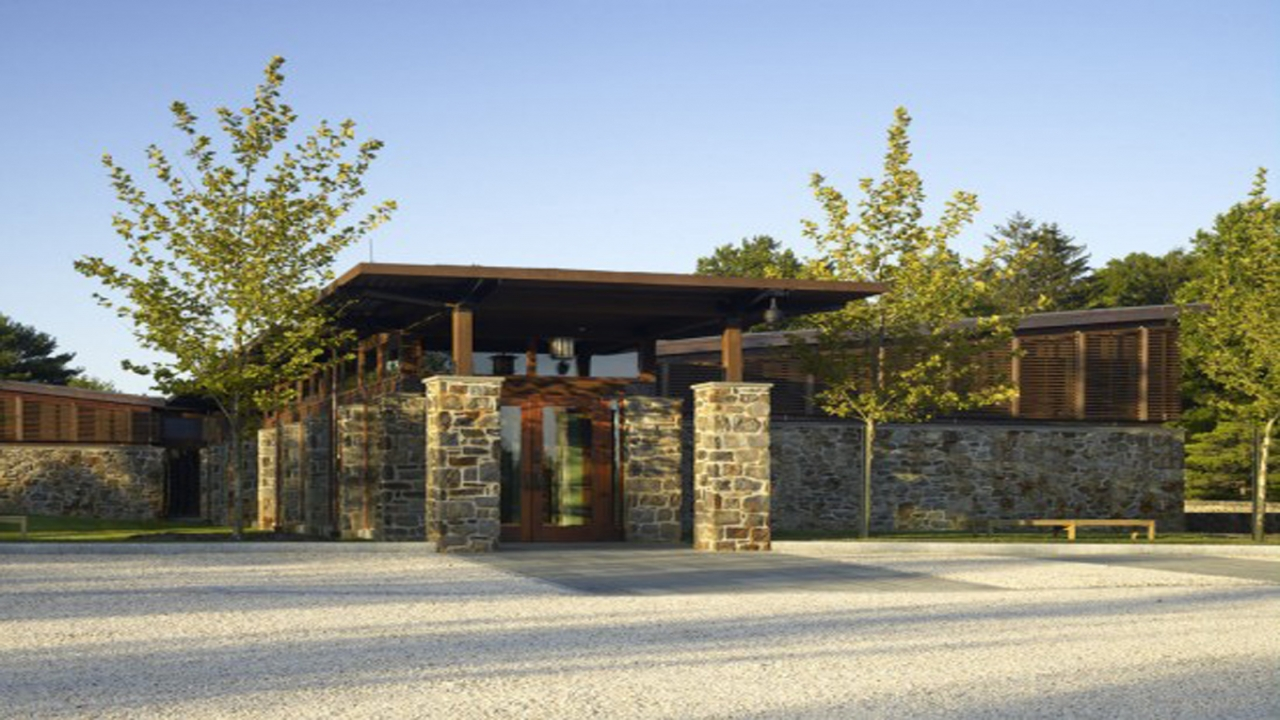 Post and beam homes sustainable stone home designs one of for Post and beam ranch homes