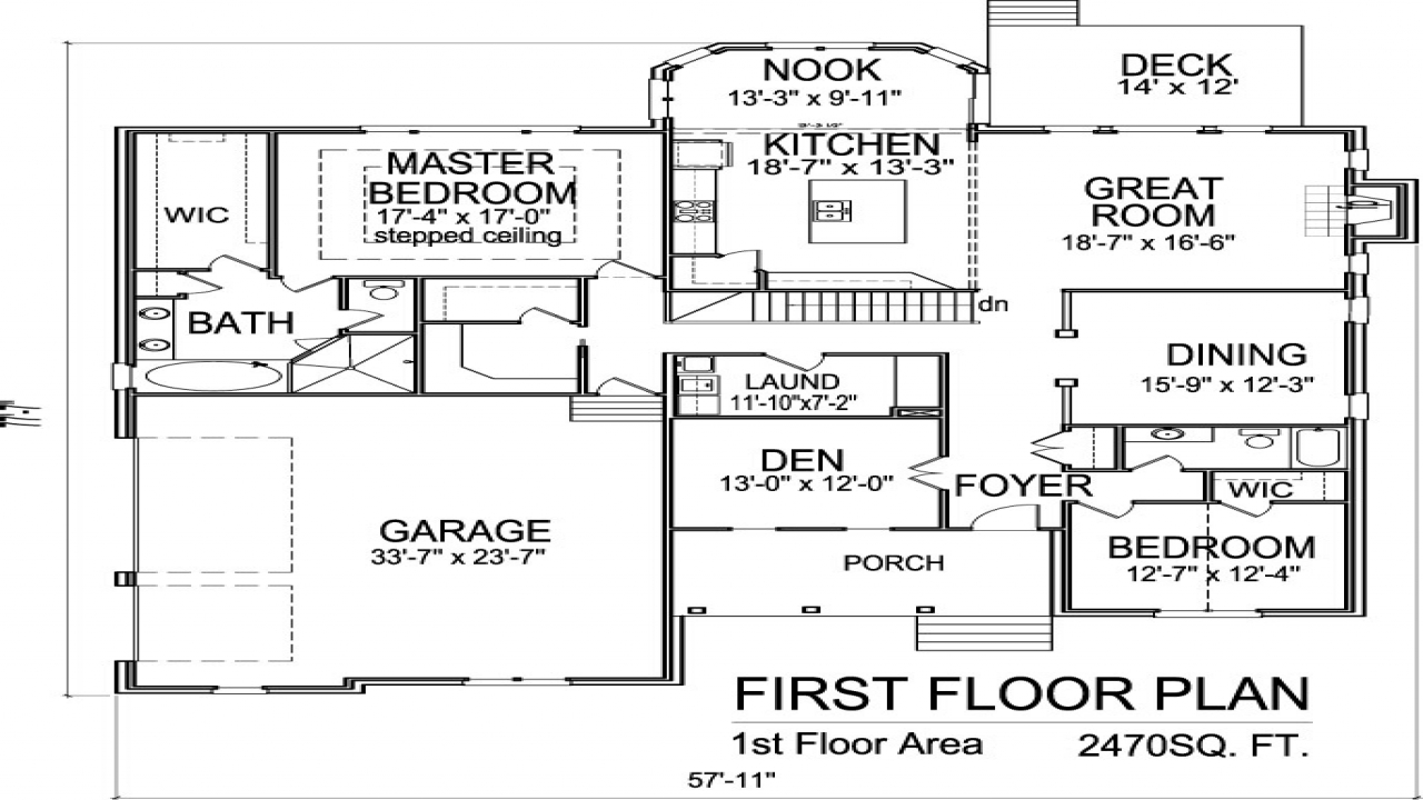2 Story House Floor Plans with Basement 2 Story House, 1 ...