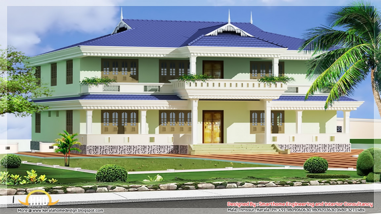 Elevation kerala style houses front elevation houses for American style mansions