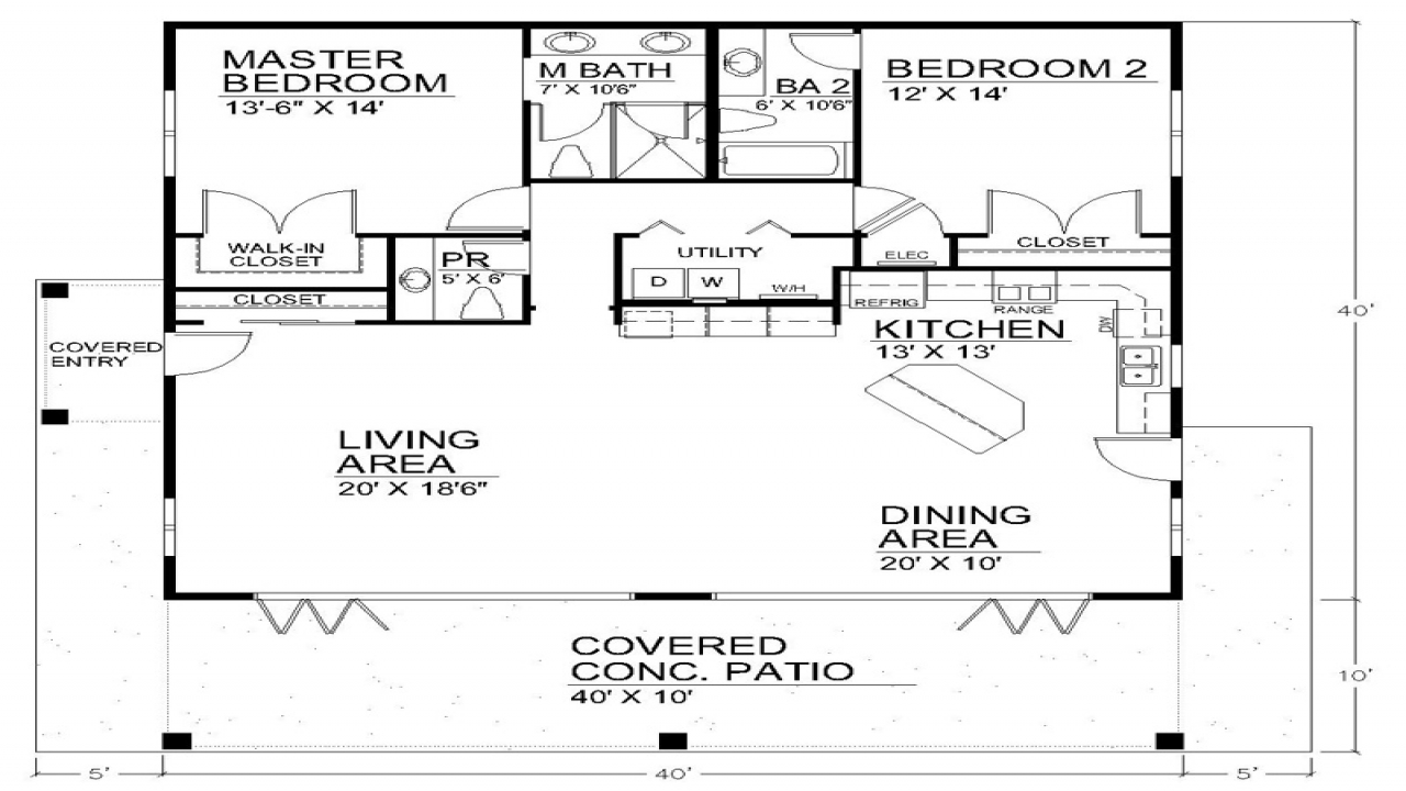 Best open floor plans open floor plan house designs open for 40x40 2 story house plans