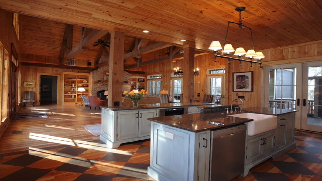Rustic Open Floor Plan Cabins Single Story Open Floor