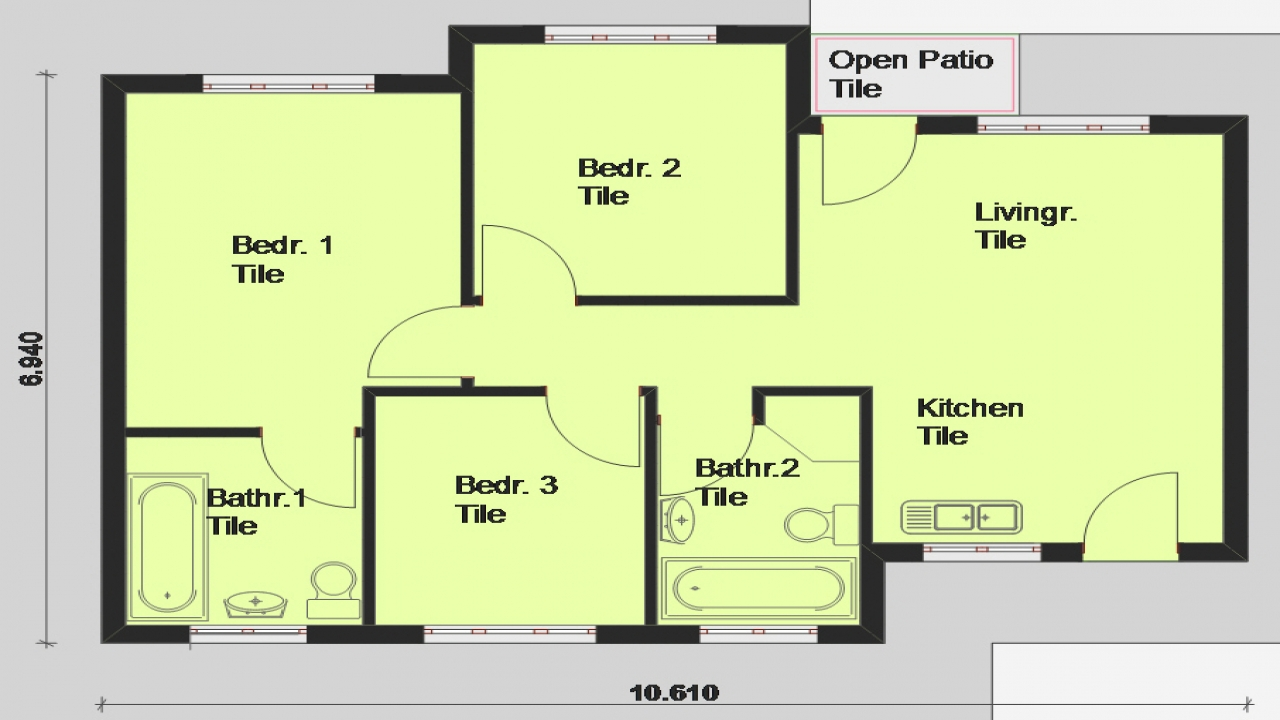 Free printable house blueprints free house plans south for Free ranch house plans