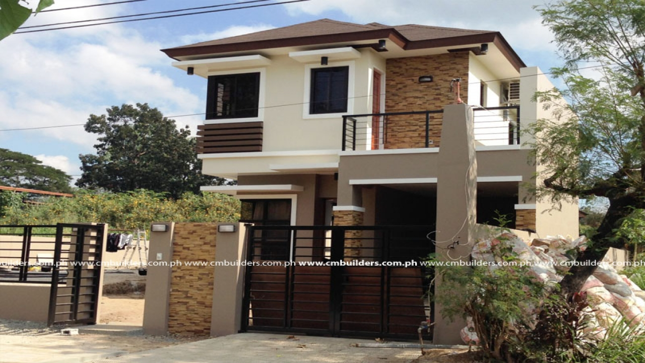 Modern zen house design philippines simple small house for Small modern house plans two floors