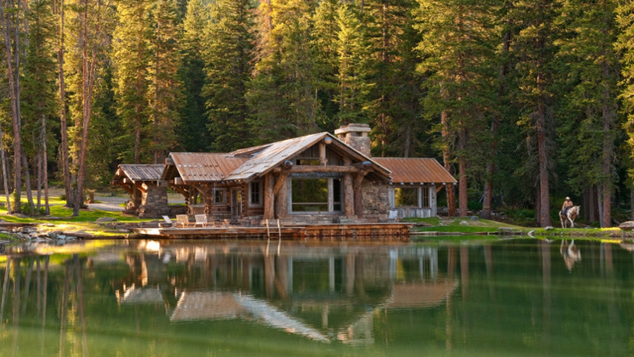 Log cabin in the mountains cabins lakes camps