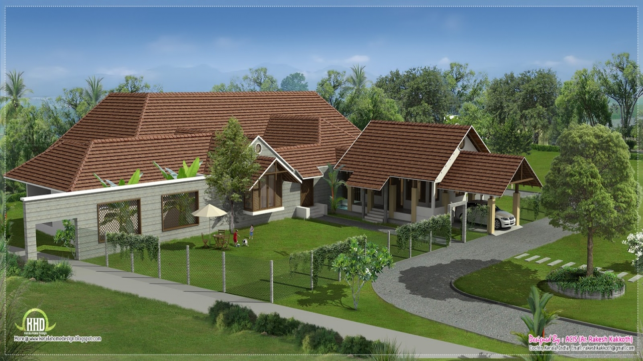Executive Homes Floor Plans: Courtyard U-shaped House Plans Luxury Bungalow House Plans