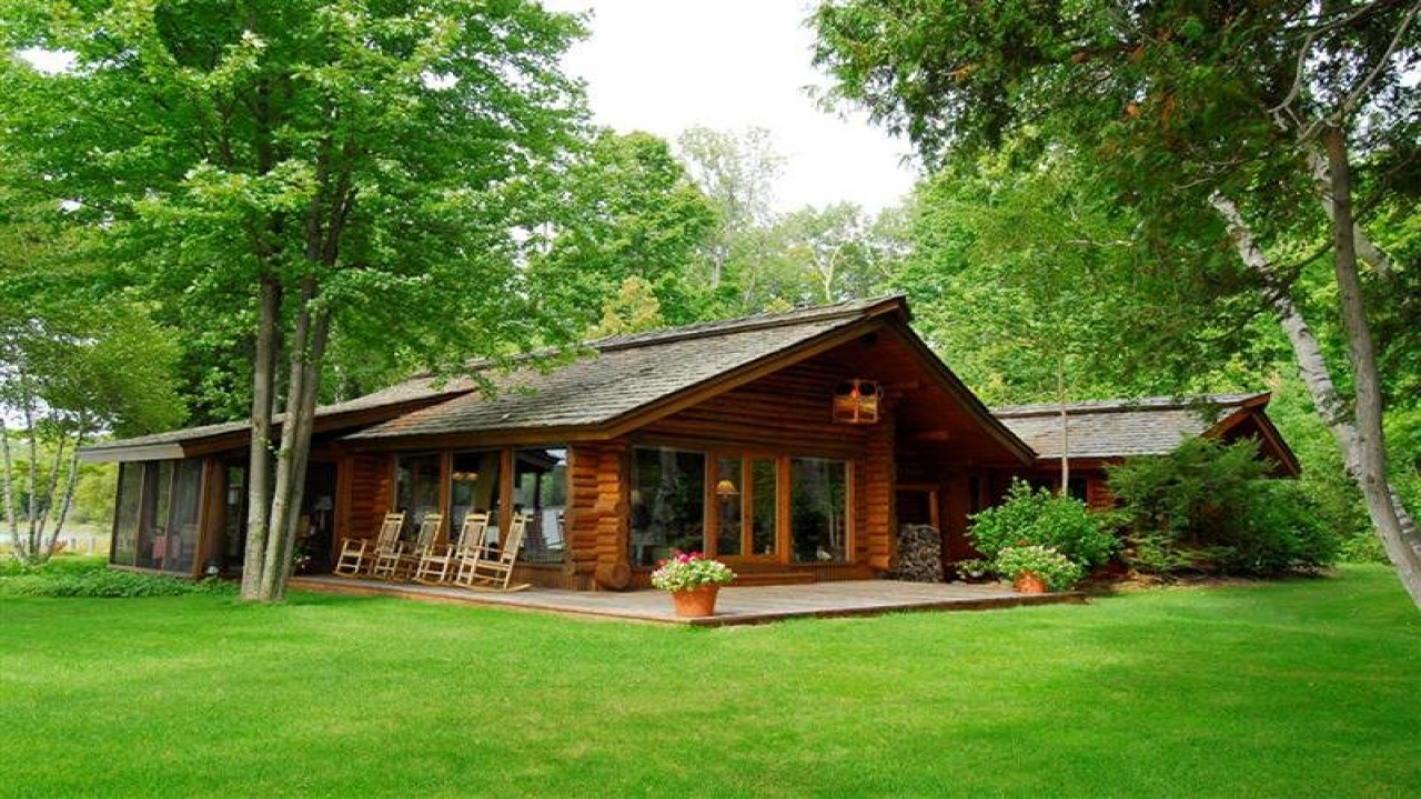 Log Cabin Interiors Log Cabin Homes For Sale In Michigan