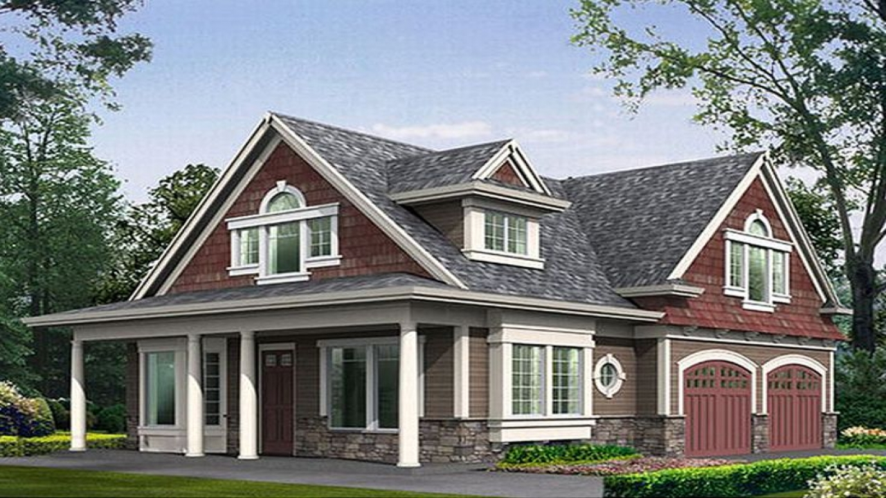 With 2 Bedrooms Above Garage : House with garage apartment plans