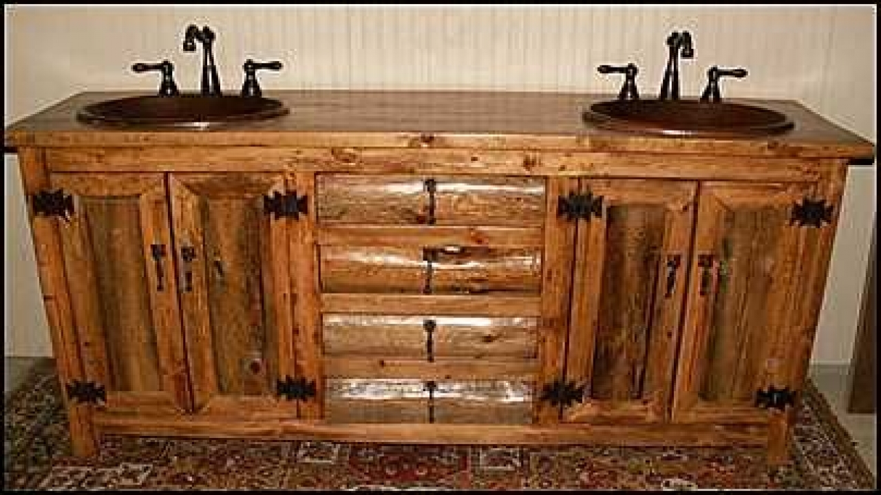 Rustic style bathrooms