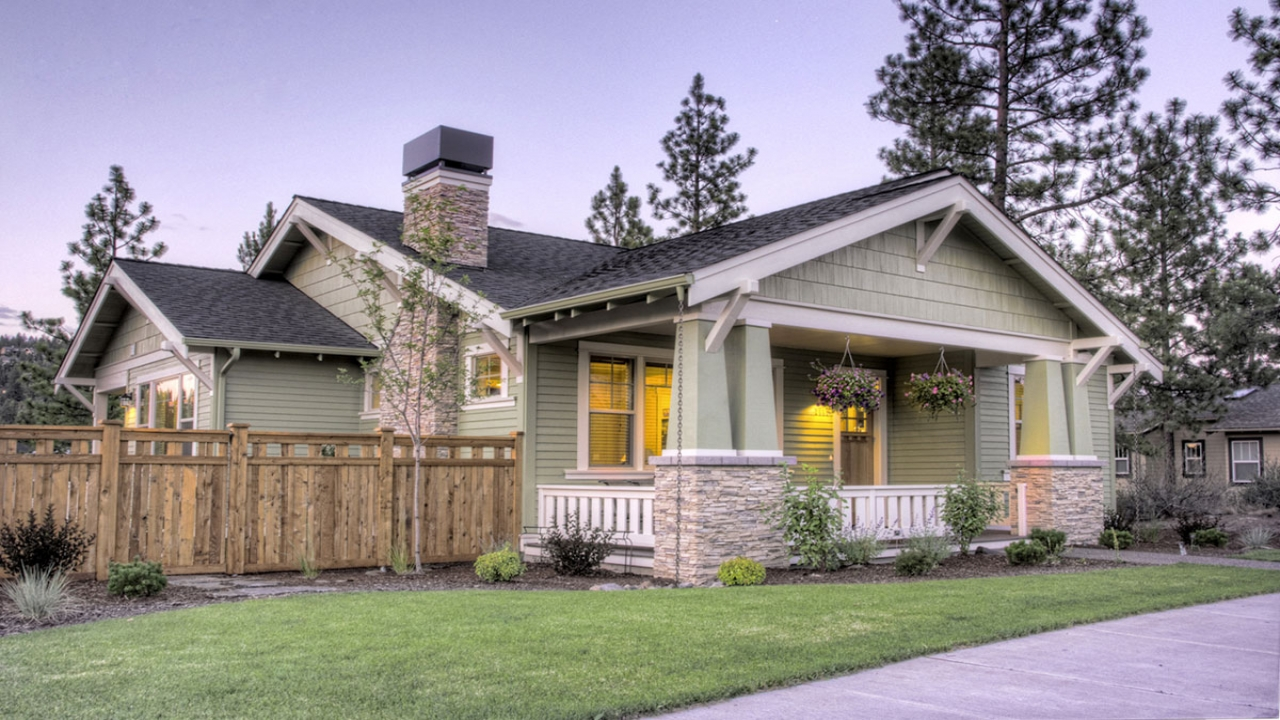 Northwest style craftsman house plan single story for Craftsman home builders