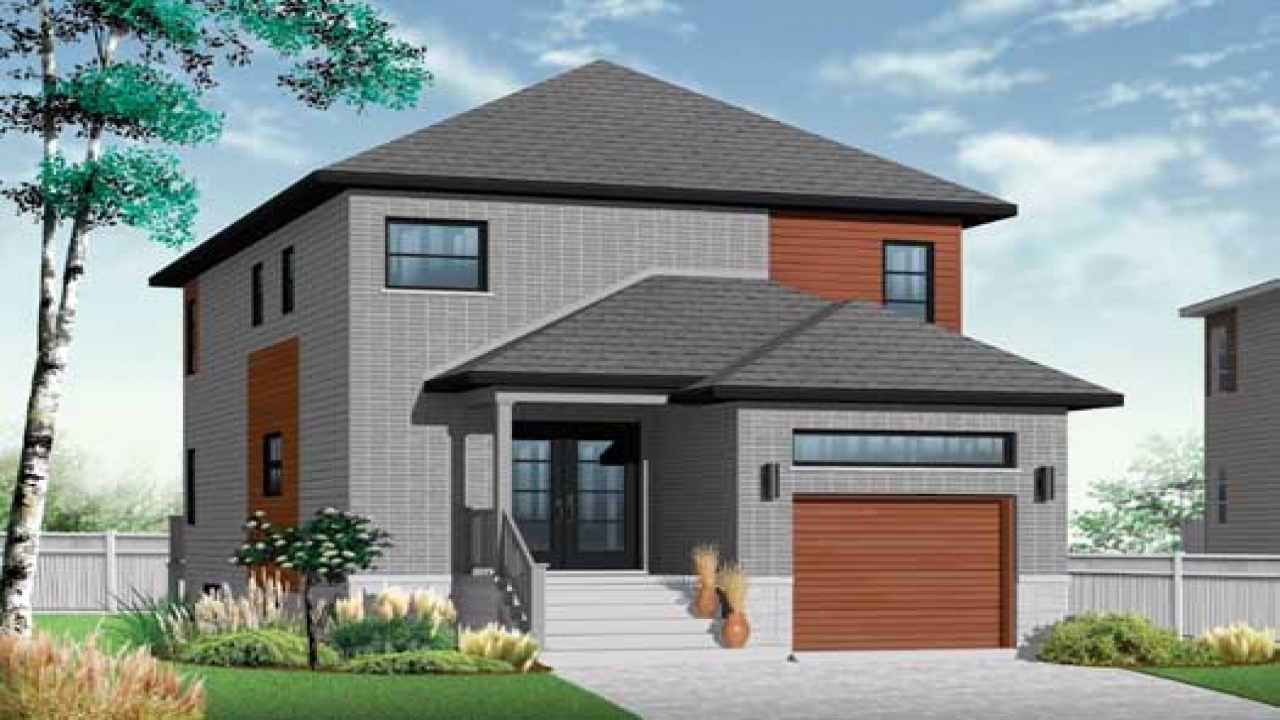 2 story contemporary house plans y shaped 2 story houses for Modern two story homes