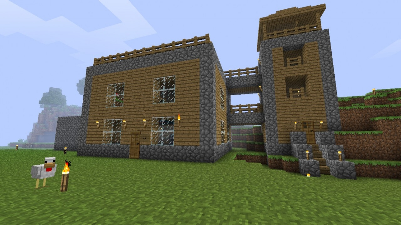 cool easy minecraft house designs cool minecraft house designs lrg 95b00318a0da4884 - Download Easy Small Minecraft House Designs Background