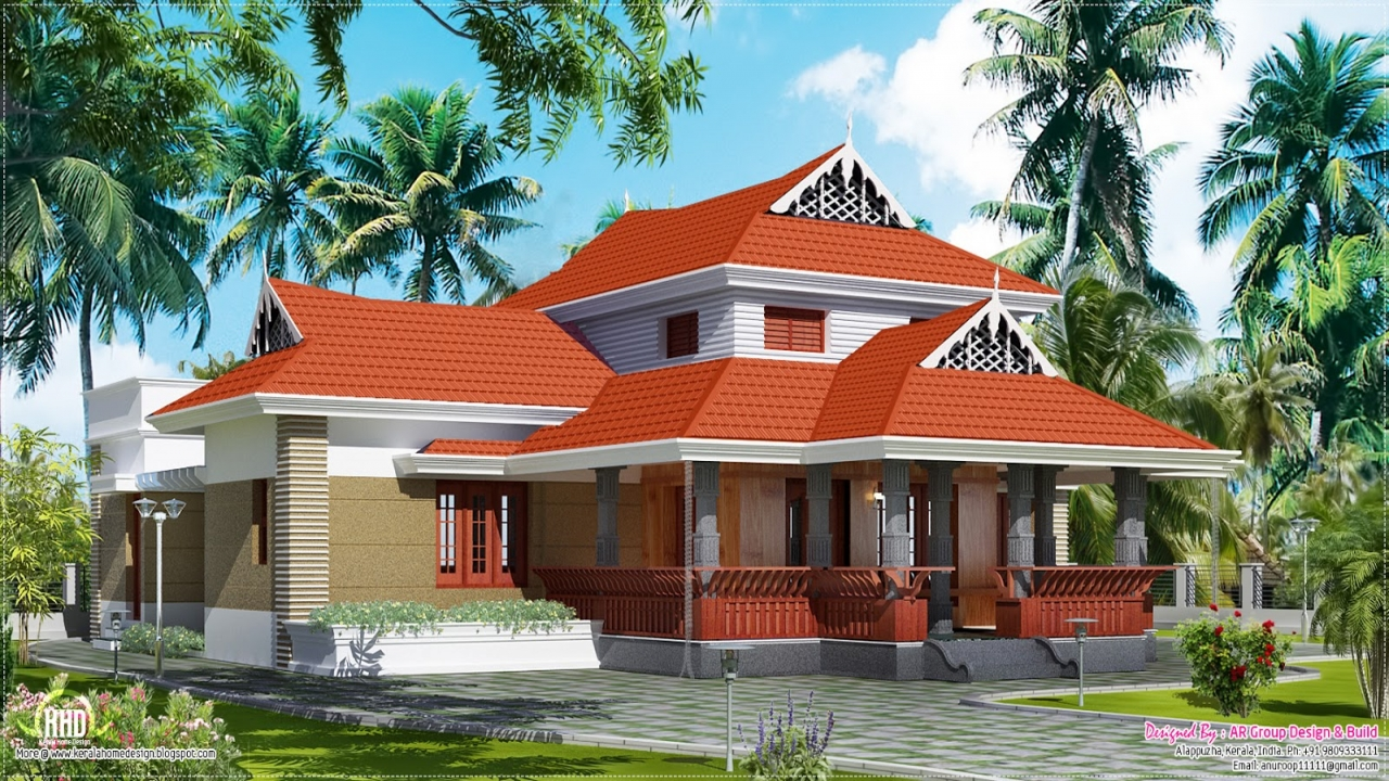 Beautiful house plans in kerala kerala traditional house for Beautiful farmhouse plans
