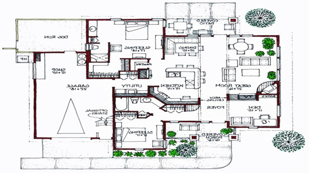 Modern bungalow floor plans one story bungalow floor plans for Modern bungalow floor plans