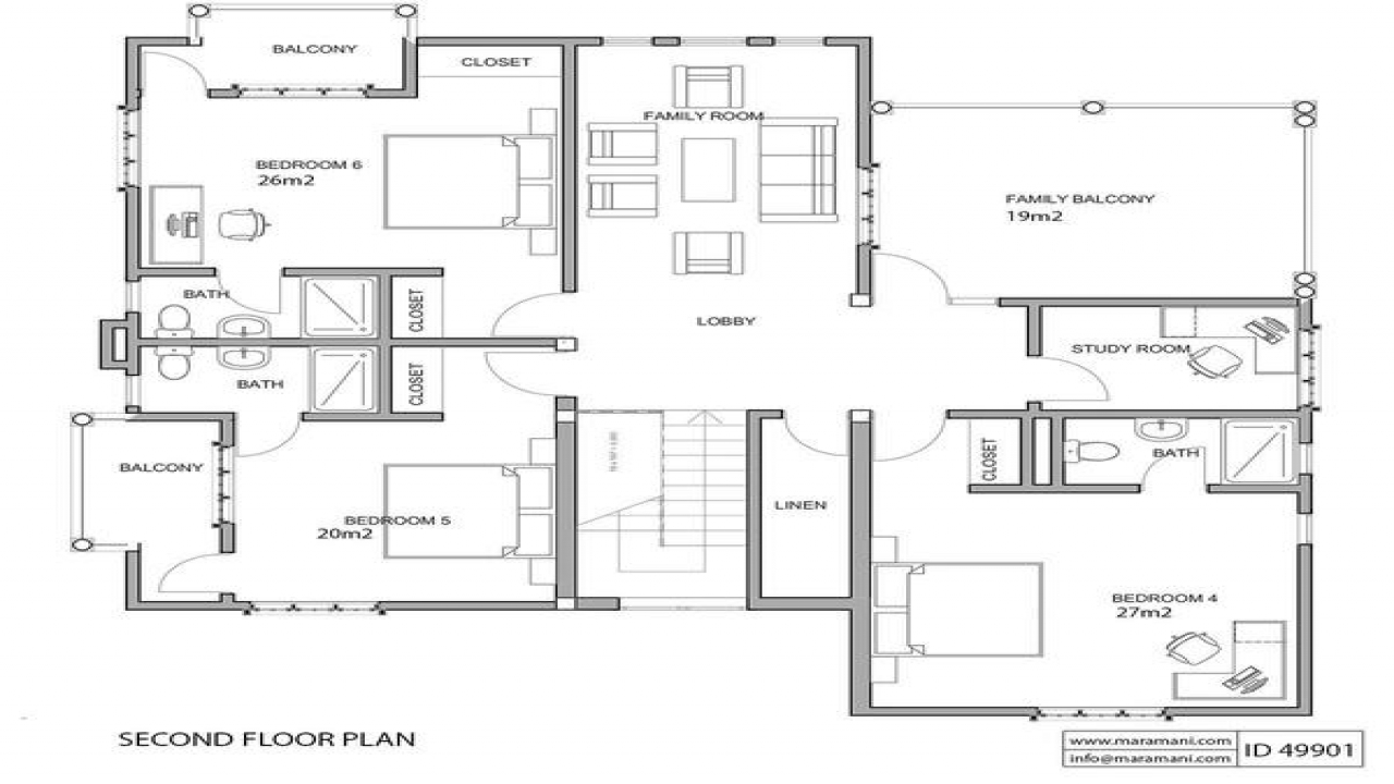Residential house plans 4 bedrooms plans house maramani for Residential home floor plans