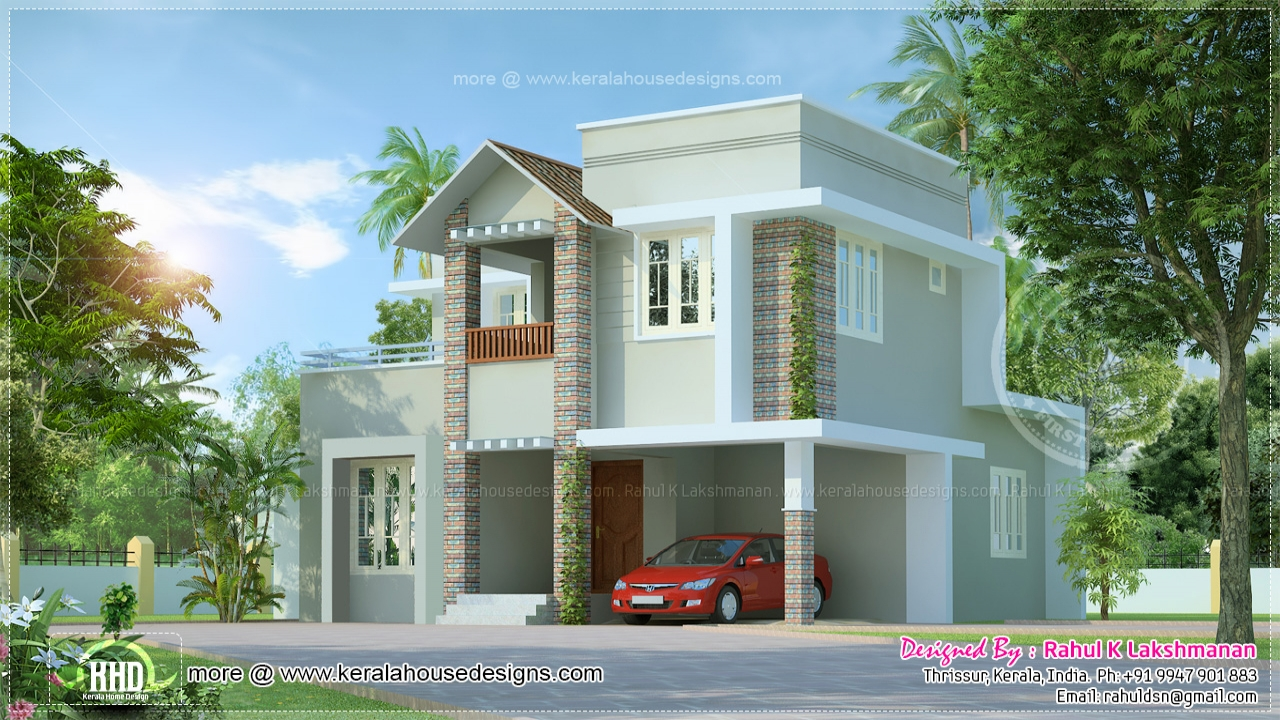 Small house floor plans and designs small villa house plans small cute house for Small houses designs and plans