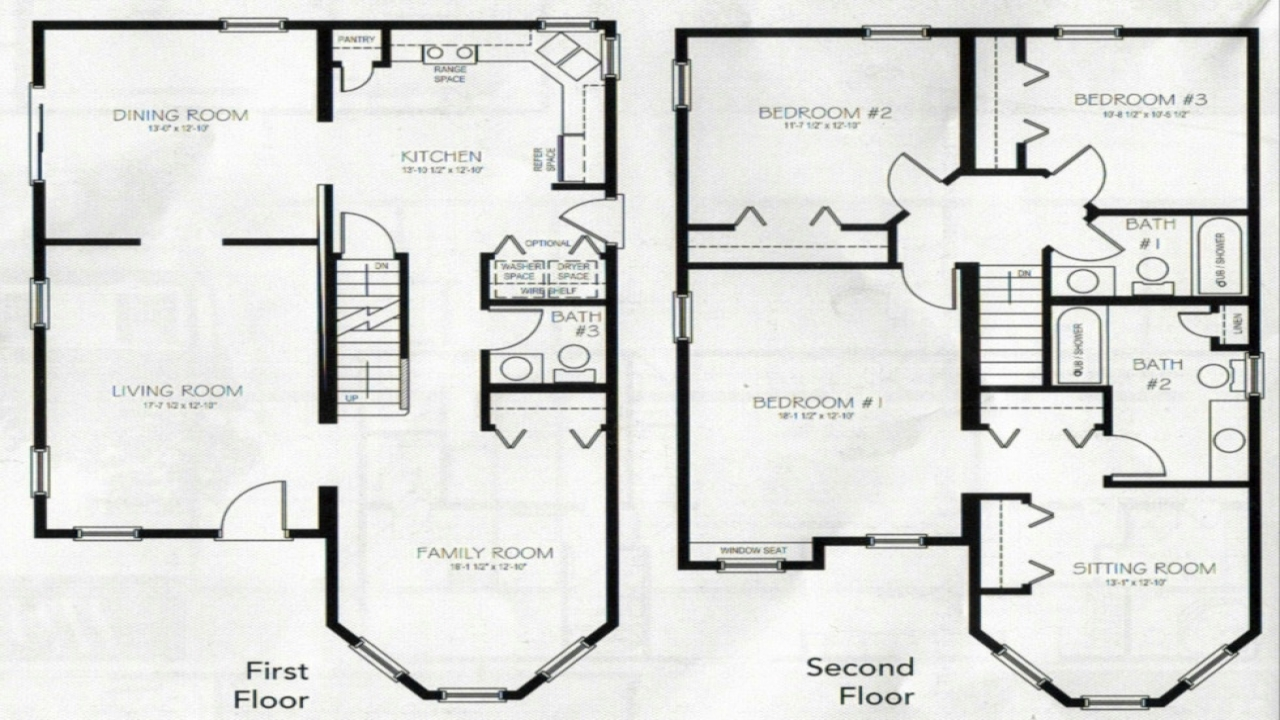 4 bedroom 2 story house plans story 3 bedroom with for 4 bedroom 2 story house