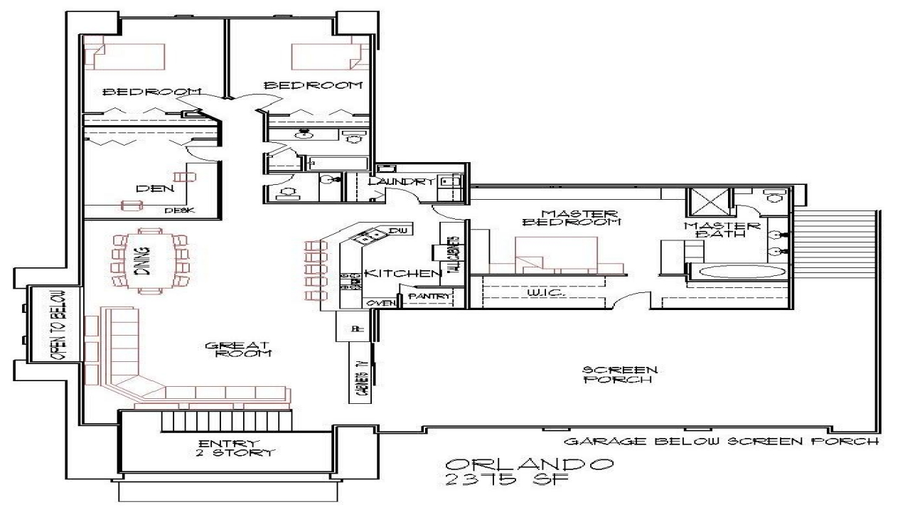 Blueprints 4 bedroom double wide small 4 bedroom house for Small double wide floor plans