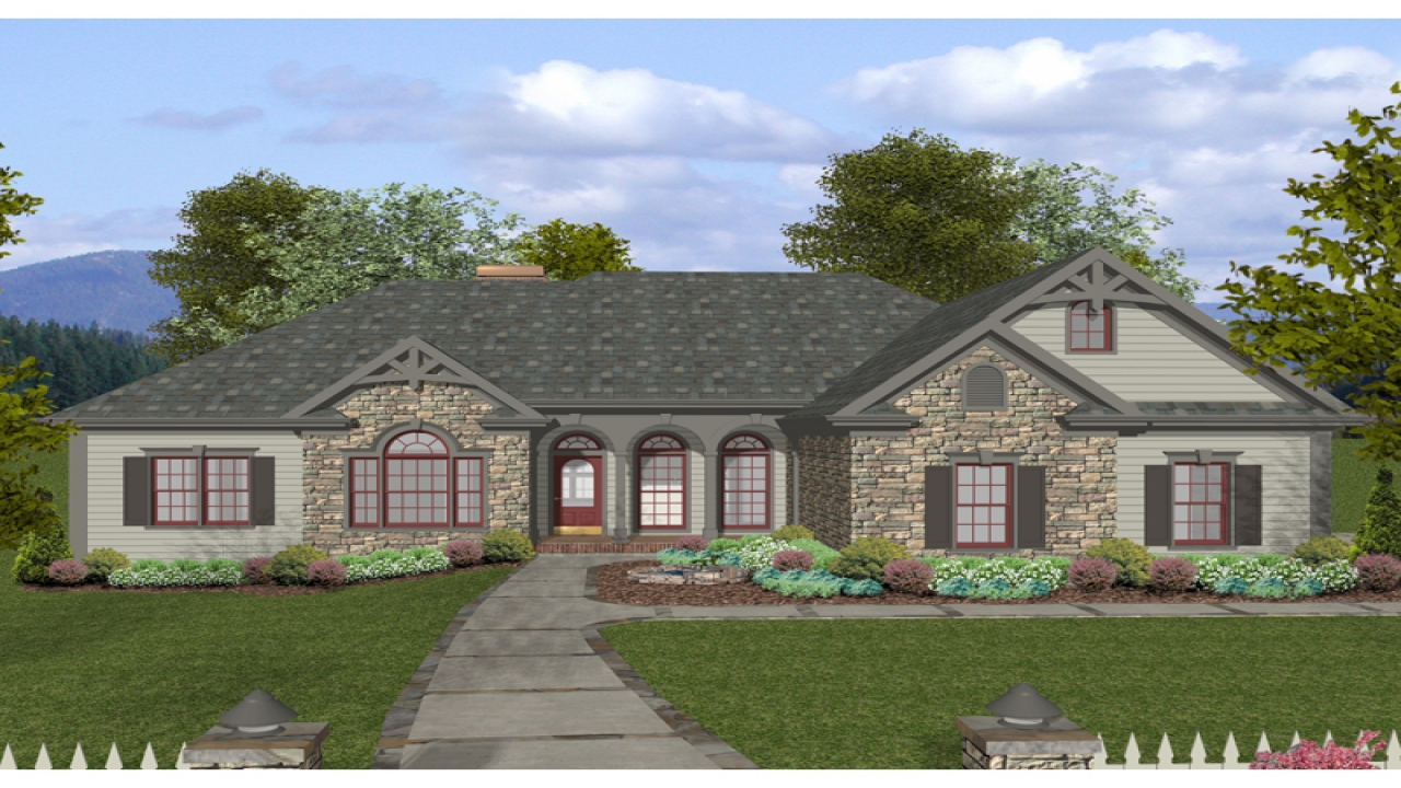 Craftsman bungalow house plans craftsman style house plans for Craftsman ranch house plans