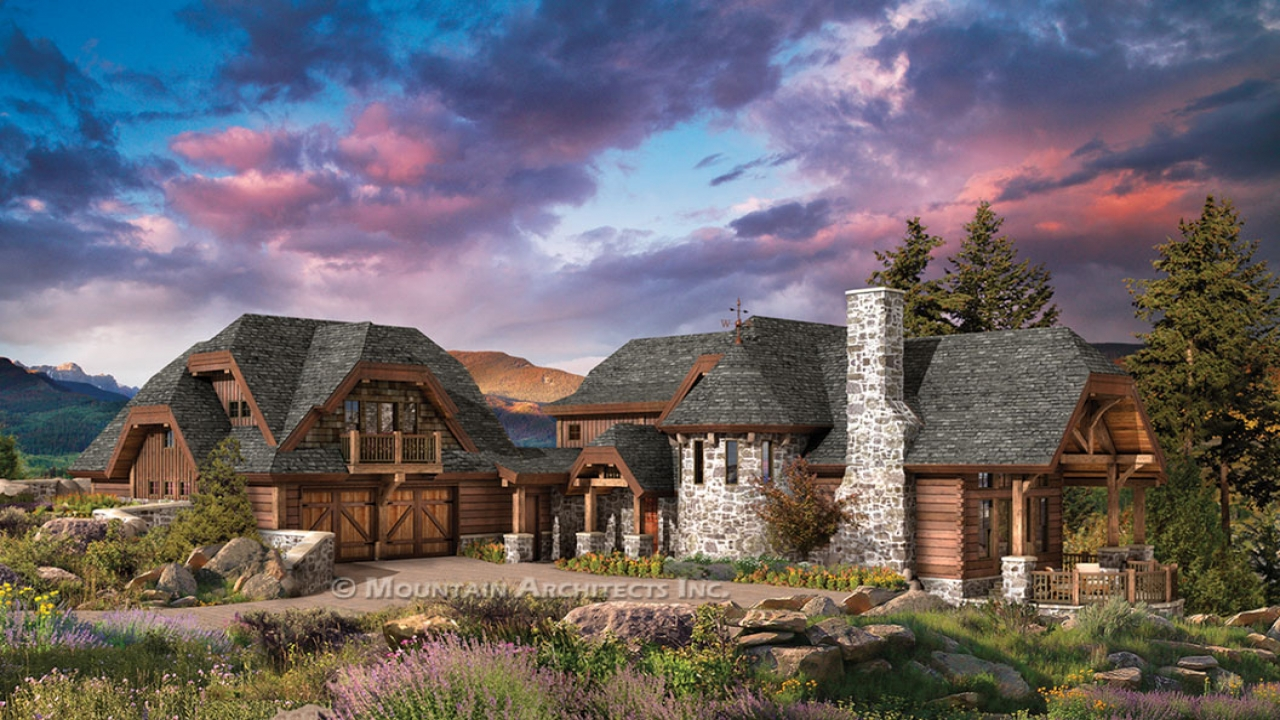 Luxury log cabin home floor plans biggest luxury log home for Luxury log home