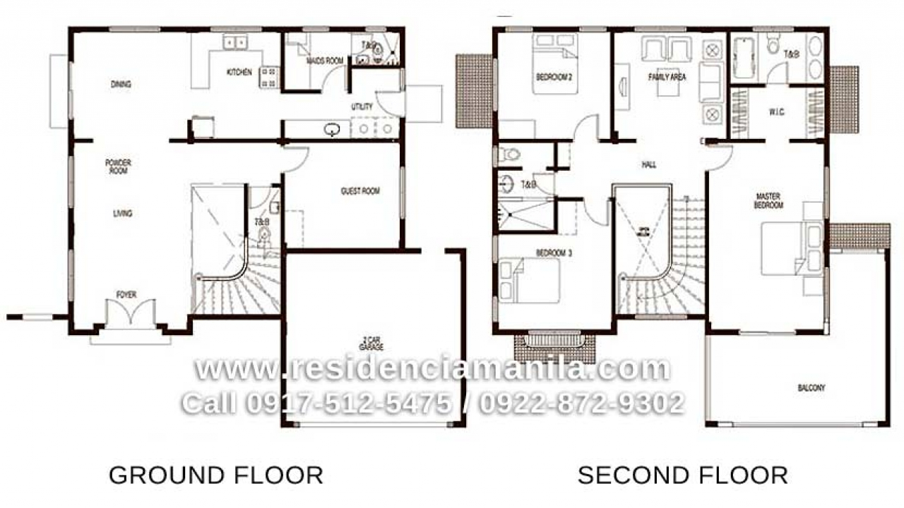 Philippine bungalow house design house floor plan for Model house design with floor plan