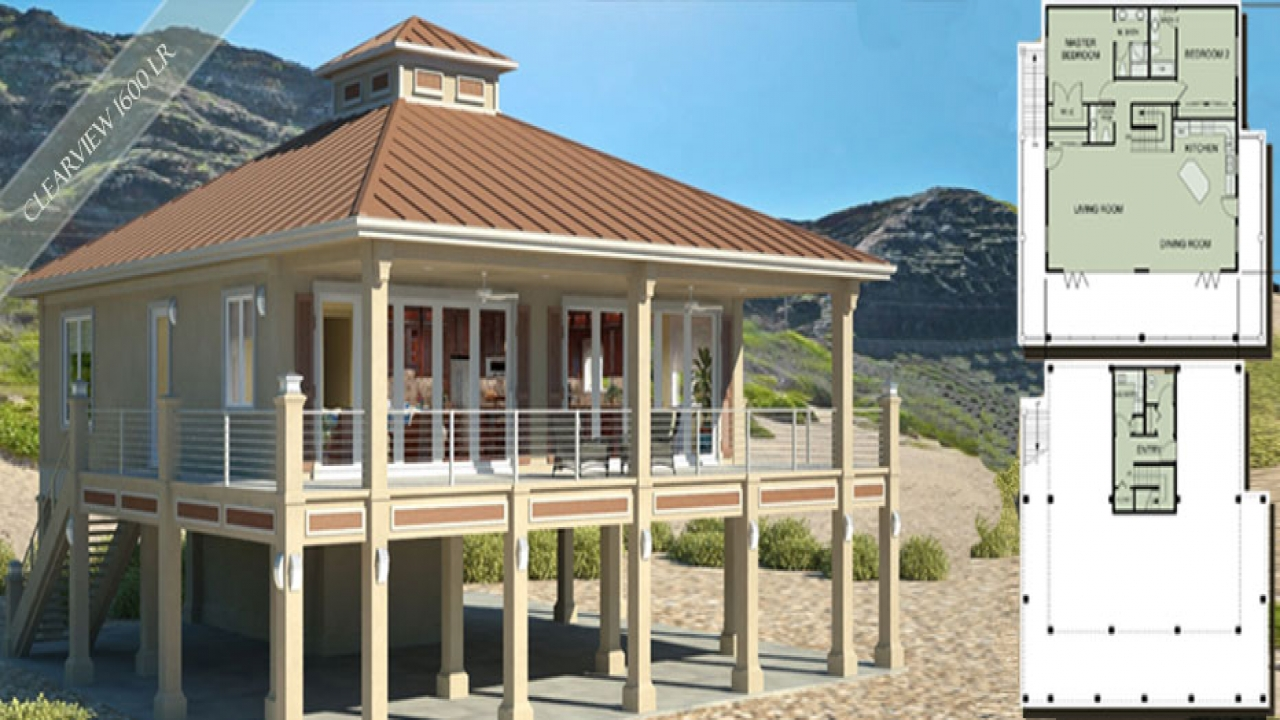Small Beach House Plans Small Square House Plans
